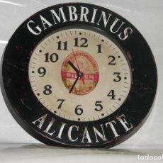 Coleccionismo de cervezas: RELOJ GAMBRINUS - CRUZCAMPO. Lote 168492752