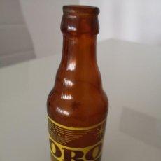Coleccionismo de cervezas: BOTELLA DE CERVEZA ESPECIAL SERIGRAFIADA ESPECIAL ORO BILBAO VALENCIA 1/5. Lote 168612892
