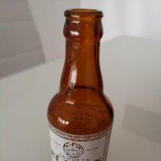 Coleccionismo de cervezas: BOTELLA DE CERVEZA SERIGRAFIADA EL LEÓN ROMA 1965 PRECIOSA. Lote 168617716