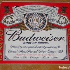 Colecionismo de cervejas: PLACA BUDWEISER. Lote 168842552