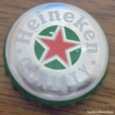 Coleccionismo de cervezas: CHAPA CERVEZA HEINEKEN QUALITY - KRONKORKEN TAPPI FABRICANTE -DAP-. Lote 169119660