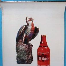 Coleccionismo de cervezas: CARTEL CALENDARIO PUBLICIDAD CERVEZA CERVEZAS EL AGUILA , GRANDE COMPLETO , 1963 , ORIGINAL. Lote 169335316