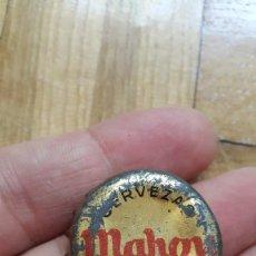 Coleccionismo de cervezas: CHAPA TAPON CORONA CERVEZAS MAHOU (CORCHO) - COLOR ORO - VER FOTOS ADICIONALES. Lote 169377328