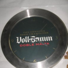 Coleccionismo de cervezas: RELOJ VOLL DAMM. Lote 169585896