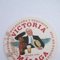 Coleccionismo de cervezas: POSAVASOS CARTON - CERVEZA VICTORIA - MALAGA - FRANQUELO - NUEVO MODELO - DOBLE CARA - 10 CM. Lote 170221925