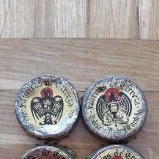 Coleccionismo de cervezas: LOTE 4 CHAPAS CERVEZA EL AGUILA (CORCHO) -- 3 MODELOS DIFERENTES - VER FOTOS. Lote 170247336