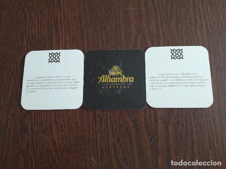 Coleccionismo de cervezas: lote de 3 posavasos de cerveza Alhambra. - Foto 2 - 195147313
