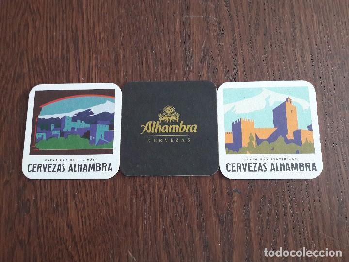 LOTE DE 3 POSAVASOS DE CERVEZA ALHAMBRA. (Coleccionismo - Botellas y Bebidas - Cerveza )