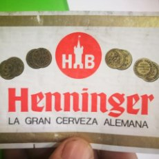 Coleccionismo de cervezas: ETIQUETA DE CERVEZA HENNINGER. Lote 170746810