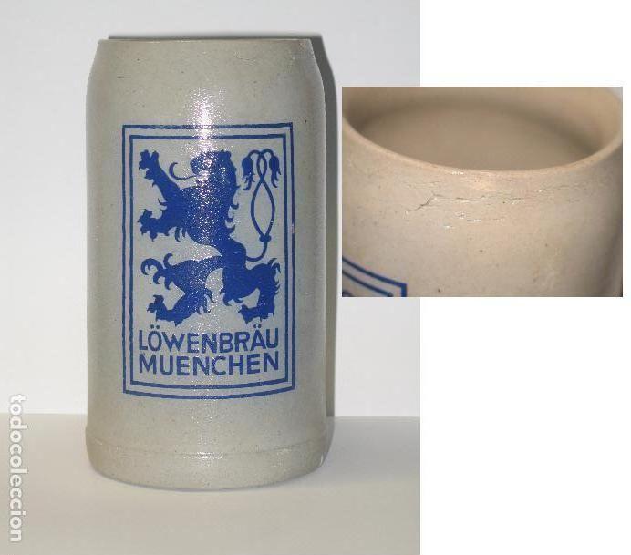 ANTIGUA JARRA LOWENBRAU (Coleccionismo - Botellas y Bebidas - Cerveza )