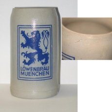 Coleccionismo de cervezas: ANTIGUA JARRA LOWENBRAU. Lote 171684627