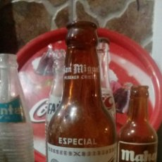 Coleccionismo de cervezas: BOTELLA SAN MIGUEL ANTIGUA. Lote 171770123