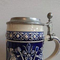 Coleccionismo de cervezas: JARRA DE CERVEZA ALEMANIA GERZ 95 % ZINN. Lote 171997530