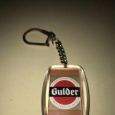 Coleccionismo de cervezas: LLAVERO CON MARCA DE CERVEZA GULDER ... ZKR. Lote 172615305