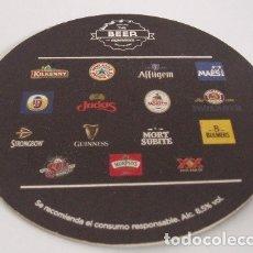 Coleccionismo de cervezas: POSAVASOS CERVEZA, THE BEER EXPERIENCE. Lote 173090149