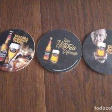 Coleccionismo de cervezas: LOTE DE 3 POSAVASOS DE CERVEZA ESTRELLA GALICIA.. Lote 173364705