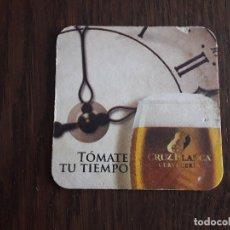 Coleccionismo de cervezas: POSAVASOS DE CERVEZA CRUZBLANCA.. Lote 173791782