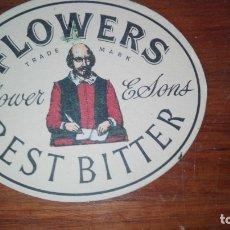 Coleccionismo de cervezas: POSAVASOS FLOWERS BEST BITTERS. Lote 173797689