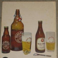 Coleccionismo de cervezas: ANTIGUO CARTEL ROSA BLANCA. Lote 173800635