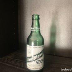 Coleccionismo de cervezas: BOTELLA CERVEZA SAN MIGUEL (LLEIDA) SIN ESPECIAL VERDE. Lote 175040573