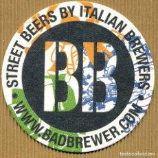 Coleccionismo de cervezas: POSA VASOS CERVEZA - BEERS BAD BREWERS ITALIA. Lote 175922217