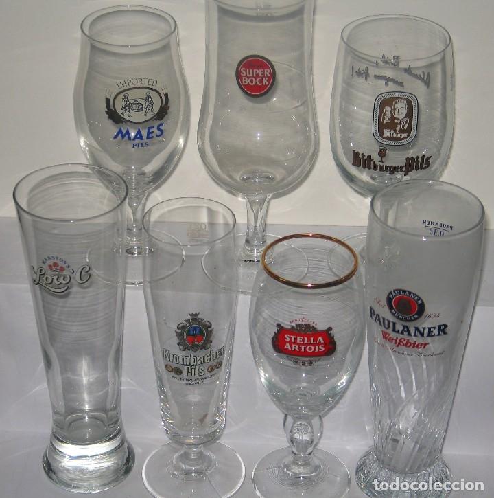 LOTE CRISTALERIA EXTRANJERA (Coleccionismo - Botellas y Bebidas - Cerveza )