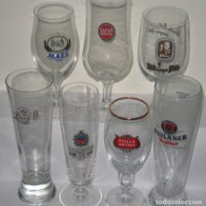 Coleccionismo de cervezas: LOTE CRISTALERIA EXTRANJERA. Lote 176123943
