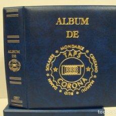 Coleccionismo de cervezas: ALBUM BBB*-BEUMER*MODELO MAMUT CON 5 HOJAS ESPECIALES GRAN LUJO Y SOLAPA. INCLUYE CAJETIN IDÉNTICO... Lote 176128939