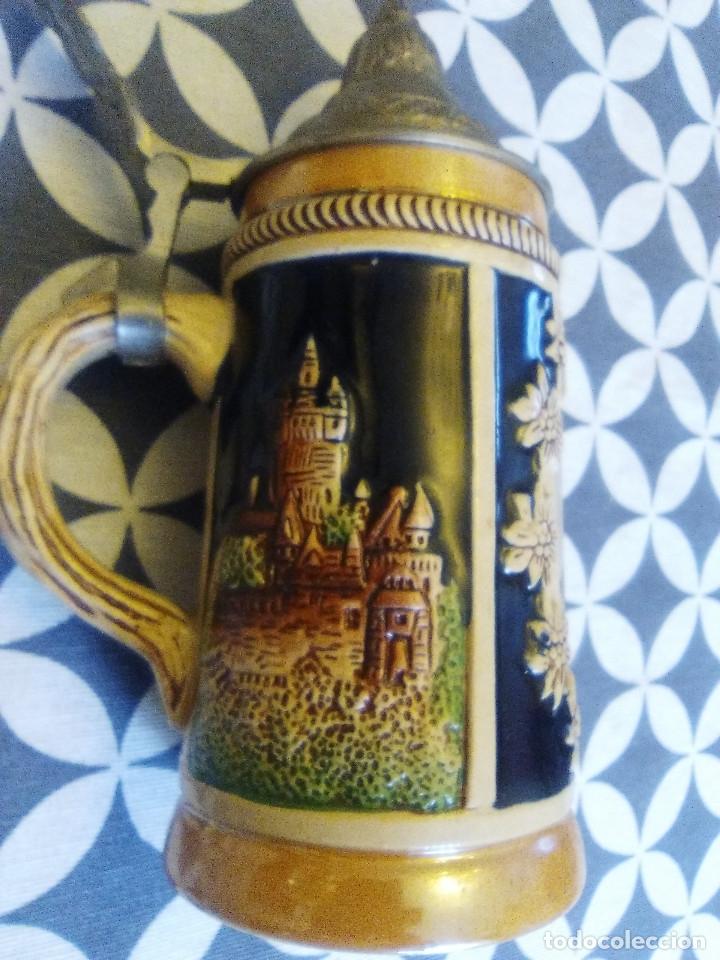 Coleccionismo de cervezas: JARRA PARA CERVEZA TIPO ALEMANA CON TAPA - Foto 3 - 176774825
