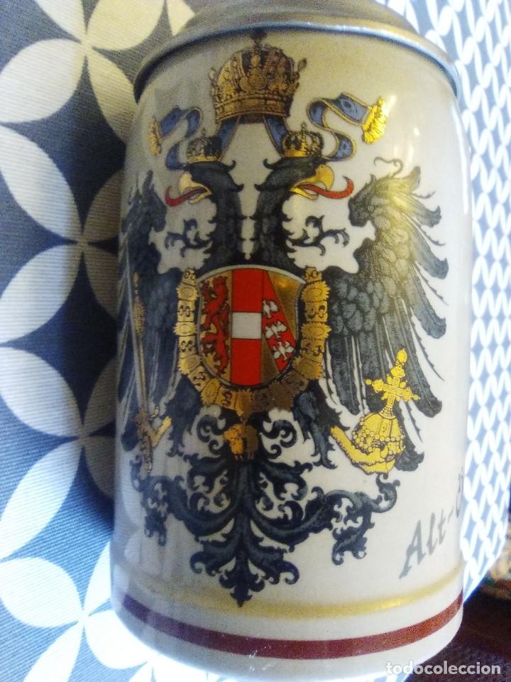 Coleccionismo de cervezas: JARRA PARA CERVEZA TIPO ALEMANA CON TAPA - Foto 2 - 176774898
