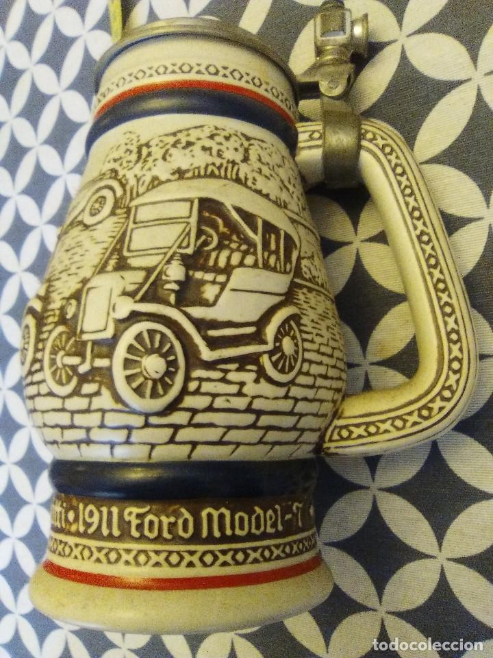 Coleccionismo de cervezas: JARRA PARA CERVEZA TIPO ALEMANA CON TAPA - Foto 2 - 176775463