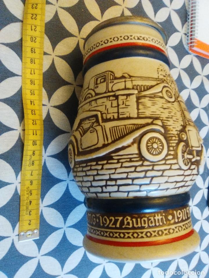 Coleccionismo de cervezas: JARRA PARA CERVEZA TIPO ALEMANA CON TAPA - Foto 3 - 176775463