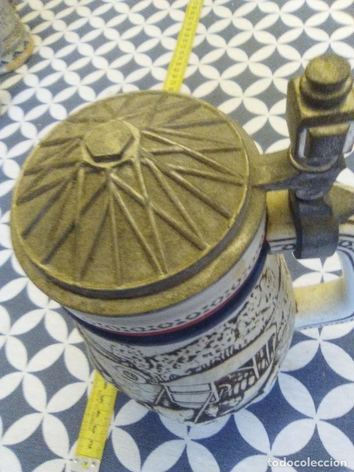 Coleccionismo de cervezas: JARRA PARA CERVEZA TIPO ALEMANA CON TAPA - Foto 5 - 176775463