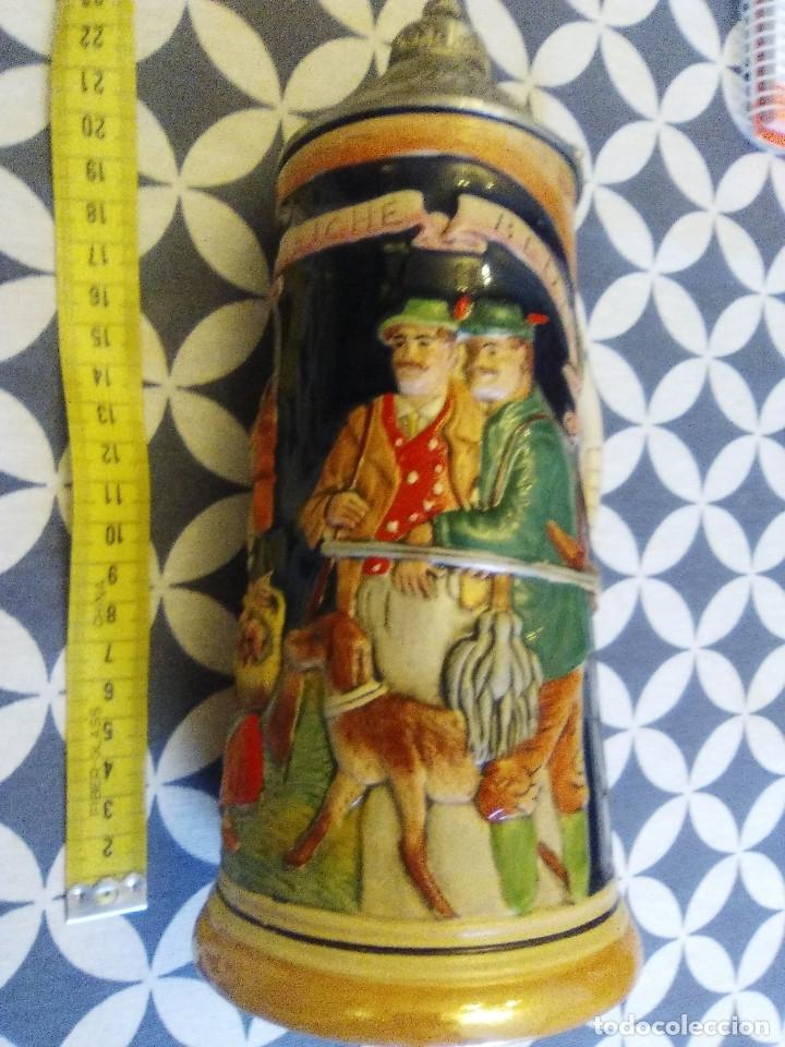 Coleccionismo de cervezas: JARRA PARA CERVEZA TIPO ALEMANA CON TAPA - Foto 2 - 176775605