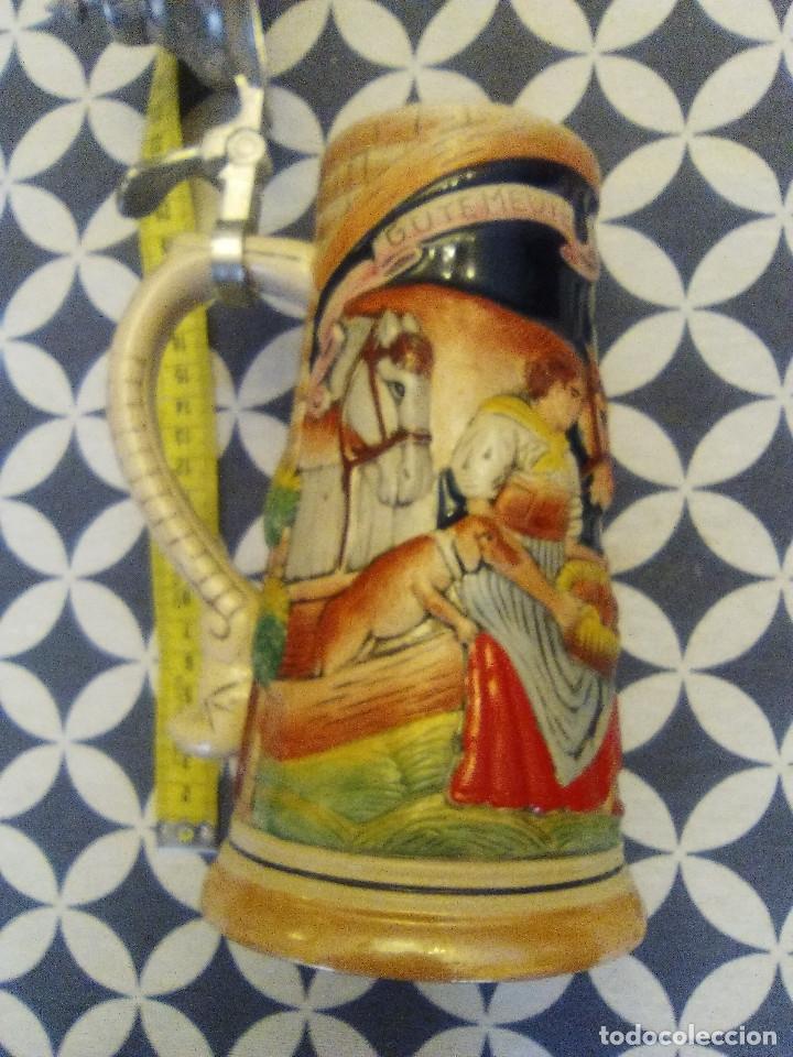 Coleccionismo de cervezas: JARRA PARA CERVEZA TIPO ALEMANA CON TAPA - Foto 4 - 176775605