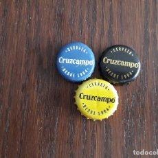 Coleccionismo de cervezas: LOTE DE 3 CHAPAS DE CERVEZA CRUZCAMPO.. Lote 176976658