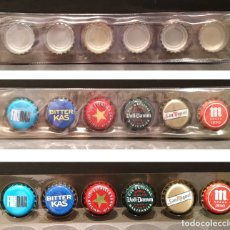 Coleccionismo de cervezas: LOTE 6 CORONAS DE CERVEZA Y REFRESCO CON FUNDA. Lote 177514898