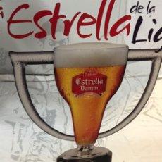 Coleccionismo de cervezas: ESTRELLA DAMM. PUBLICIDAD FUTBOL. Lote 178305307