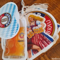 Coleccionismo de cervezas: ERDINGER- BANDERINES CERVEZA ALEMANA. Lote 178848673
