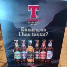 Coleccionismo de cervezas: TENNENTS CERVEZA ESCOCESA- DÍPTICO. Lote 178852581