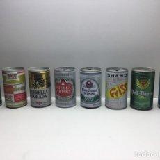 Coleccionismo de cervezas: LOTE DE 8 LATAS DE CERVEZA 'VINTAGE' - HEINEKEN - ESTRELLA DORADA - VOLL DAMM - LIFT - STELLA ARTOIS. Lote 179179183