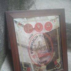 Coleccionismo de cervezas: CERVEZAS - EL ALCÁZAR / CALATRAVA / COURAGE - ANTIGUO ESPEJO PUBLICITARIO - 1978 - MUY BONITO. Lote 180255472