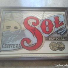 Coleccionismo de cervezas: CERVEZA - SOL - ESPECIAL - CERVECERÍA MOCTEZUMA, MONTERREY, MÉXICO - ANTIGUO ESPEJO - PUBLICIDAD. Lote 180342730
