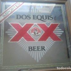 Coleccionismo de cervezas: CERVEZA - DOS EQUIS - XX BEER - IMPORTED - CERVECERÍA MOCTEZUMA, MONTERREY, MÉXICO - ANTIGUO ESPEJO. Lote 180345480