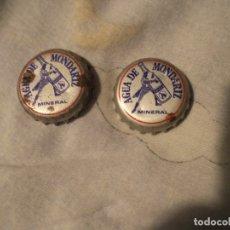 Coleccionismo de cervezas: 2 CHAPAS CORANA AGUA DE MONDARIZ. Lote 180502011