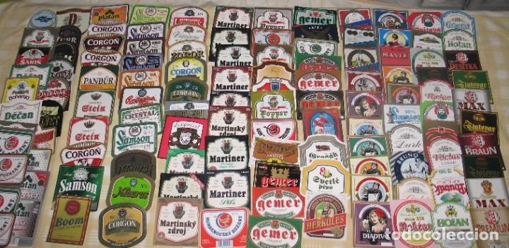 LOTE 120 ETIQUETAS CHECOSLOVAQUIA (B7) (Coleccionismo - Botellas y Bebidas - Cerveza )