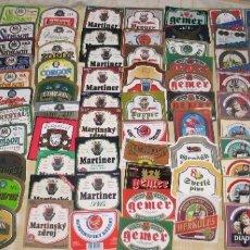 Coleccionismo de cervezas: LOTE 120 ETIQUETAS CHECOSLOVAQUIA (B7). Lote 181752241