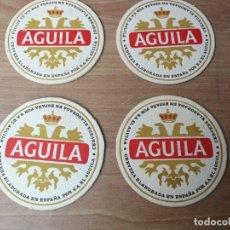 Coleccionismo de cervezas: ANTIGUOS POSAVASOS CERVEZA MARCA AGUILA . Lote 182423052