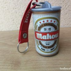 Coleccionismo de cervezas: ANTIGUO LLAVERO CERVEZA MAHOU AÑOS 90 PROMOCION LATA DE CERVEZA HERMÉTICA PARA MONEDAS . Lote 182522796