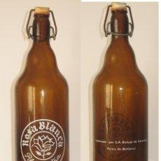 Coleccionismo de cervezas: BOTELLA ROSA BLANCA LITRO. Lote 182578916